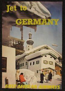 "1960s ORIGINAL VINTAGE TRAVEL POSTER ""JET TO GERMANY - EAST AFRICAN AIRWAYS"""