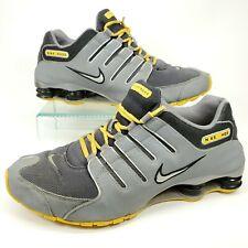 Nike Shox NZ LIVESTRONG Gray & Yellow Men's Running Shoes Size 13 526703 007