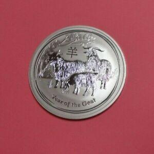 2015 Perth Mint Lunar Year Of The Goat 1oz BU 999 Silver Coin