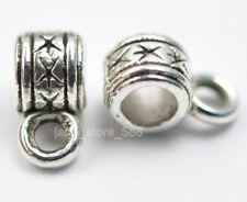 30pcs Tibet silver style charm  Connectors Bails necklace pendant beads 9mm