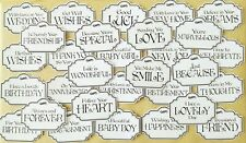 Greetings / Sentiments Card Making Toppers - Glossy finish pack of 30 NEW STYLE