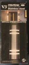 V3 Ampère Outdoor/Indoor Stainless Steel Vertical Stream Collection Wall Lamp