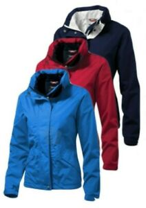 NEW LADIES WOMENS SLAZENGER SLICE WATERPROOF HOODED JACKET RAINCOAT RAIN OUTDOOR