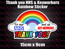 NHS rainbow thank you Sticker School ward car van key worker 10% DONATION TO NHS