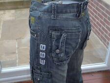 Police W28 L30 28 x 30 Blue Denim Jeans Youths Work Jeans Combat Cargo Pant