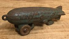 Antique 1930s Cast Iron Hubley Navy Zeppelin Pull Roll AlongToy Collectible