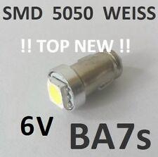1 STÜCK BA7s SMD LED WEISS DASHBOARD Licht 6V DC 1,2W Lampe Kombiinstrument
