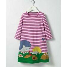 Girls Mini Boden 3/4 Sleeve Hedgehog Applique Dress ALL SIZES