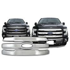 Chrome Grille Overlay FITS 2015 '15 Ford F150 F-150 F 150 Lariat Model ONLY!