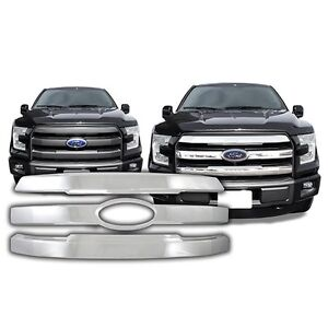 Chrome Grille Overlay FITS 2015 2016 2017 Ford F-150 F150 Lariat / King Ranch