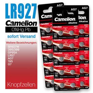 Camelion LR927 LR926 AG7 G7 LR57 195 GP95A 350 395 399 Knopfzellen MHD 10-2025