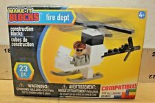 Creative Kids Make-It Blocks Fire Department 23 Pc New