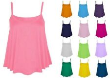 Women's Viscose Scoop Neck Fitted Vest Top, Strappy, Cami Tops & Shirts