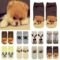 Unisex Short Socks Funny 3D Dog Printed Ankle Sock Casual Sock Cute Animal Print