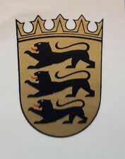 Casco de acero estampado insignia Baden-Württemberg emblema soluble en agua Nuevo