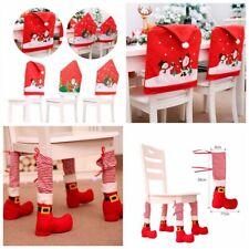 Christmas Chair Cover Foot Leg Santa Claus Dinner Table Slipcovers Xmas Decor