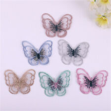 10 Mix Butterflies Patches Fabric For Jeans Sew On Embellishments Decors 5x4cm