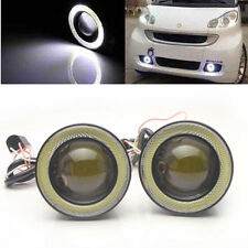 "2pcs High Power 3.0"" LED COB Fog Lights Projector w/ White Angel Eye Halo Rings"