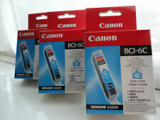 X3 Genuino Canon BCI-6C Cartucho de tinta cian por inyección de tinta BJC-8200 S800 S900 S9000 2