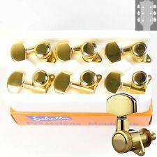 Schaller M6 Standard Rear Locking tuners/machine heads, 3x3 Gold 10060523