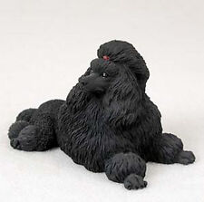POODLE BLACK  DOG Figurine Statue Hand Painted Resin Gift Pet Lovers