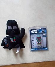 "STAR WARS BOBA FETT USB 2.0 FLASH DRIVE 2 GB + DARTH VADER 7"" PLUSHIE - NEW"