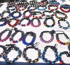 Wholesale Job Lot of Assorted Colours High Quality Shamballa Bracelets Jewellery