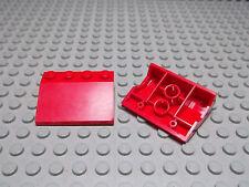 Lego 2 Schrägsteine Kotflügel 3x4 rot 2513 Set 6525 1656 6571 6644