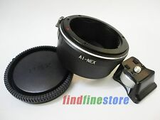 Nikon AI AI-S F Lens to Sony E NEX 3 NEX 5 NEX 7 VG10 Tripod Mount adapter + CAP