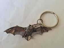 A34 Bat made of fine English Pewter on a split keyring