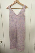 Esprit Floral Multicolored Spring 100% Cotton Sleeveless Dress Juniors Size 9/10