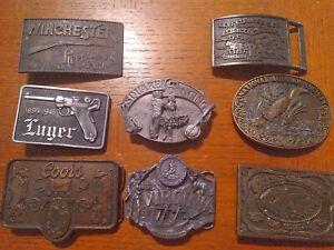 Vintage Belt Buckle Lot of 8 Luger, Grand Ole Opry, Audubon, Winchester, Levi
