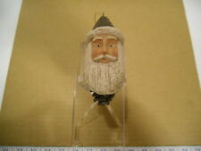 Vintage Santa Head On Pine Cone Christmas Tree Ornament - NEW