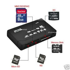 All in One External USB Memory Card Reader SD SDHC Mini Micro M2 MMC XD CF MS I