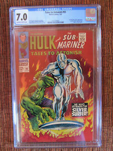 Tales to Astonish 93 CGC 7.0 Silver Surfer Classic Cover