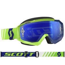 Scott Mx Hustle Motocross Occhiali di Protezione Verde/Blu con Cromo Blu Works