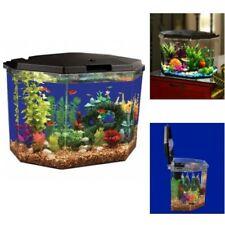 Fish Tank Aquarium 6.5 Gallon Clear Acrylic Terrarium Home with Led Lighting �