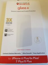 ZAGG Invisible Shield Glass + Screen Protector For iPhone 8 Plus 7 Plus & 6 Plus
