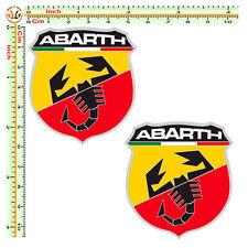 Adesivi abarth scorpion sticker cropped auto moto casco helmet tuning pvc 2 pz.