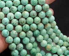 6MM Green Genuine Peruvian Turquoise Gemstone Round 16 Inch (80007355-A257)
