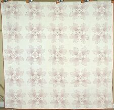 Well Quilted Vintage 20's Floral Feather Antique Quilt ~BEAUTIFUL REDWORK!