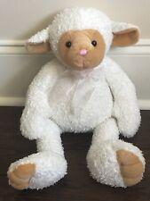 Gund Lamb Baby Sheep White Brown Face Plush Stuffed Animal  Medium Size 42600