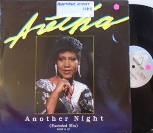"""ARETHA FRANKLIN - Another Night (Extended Mix) ~ 12"""" Single PS"""