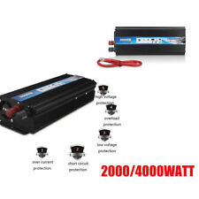 Car 2000W/4000W Converter Power Inverter DC 12V to AC 220V Invertor Electronic