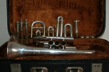 Vintage Besson Bb London Prototype Silver Cornet Cleaned and Serviced