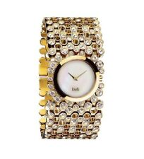 D&G Risky Gold Crystal Stone DW0244 Stainless Steel Watch Strap Special Fit