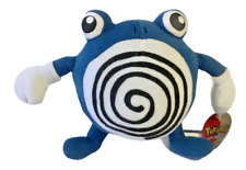"""Pokemon Plush Poliwhirl 1999 Play by Play 7"""" Doll Stuffed Animal Soft Toy W/Tags"""