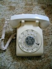 Vintage Bell System Western Electric 500 Dm Beige Rotary Dial Desk Phone