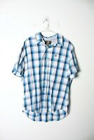 Timberland Earthkeepers Mens Short Sleeved Checked Shirt  - Blue - XL (L-PP6)