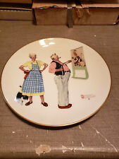 """New listing 1978 Norman Rockwell Limited Edition Gorham Winter - New Year Look, 10 3/4"""""""